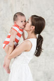 Mutter und Sohn Stockfotografie