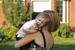 Mutter- und Sohnspiel Lizenzfreies Stockbild