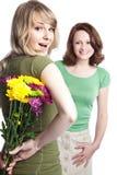 Mutter und Tochter, die Tag des Mutter feiern Lizenzfreie Stockbilder