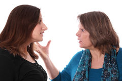 Mutter und Tochter Fighting Lizenzfreie Stockfotografie