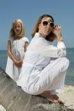 Mutter und Tochter in Florida Stockfoto