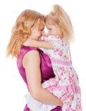 Mutter-und Tochter Geheimnisse lizenzfreie stockfotos