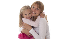 Mutter-und Tochter-Umarmen Stockbild