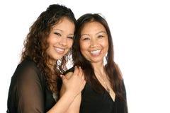 Mutter und Tochter von siamesischem Stockfotografie