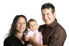 Mutter und Vater mit nettem Baby Lizenzfreie Stockbilder
