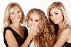 Mutter und zwei Töchter. Stockfotografie