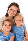 Mutter und zwei Töchter Stockfotos