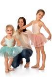 Mutter und zwei Töchter Lizenzfreie Stockbilder