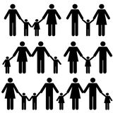 Mutter, Vater und Kindfamilie Lizenzfreie Stockfotos
