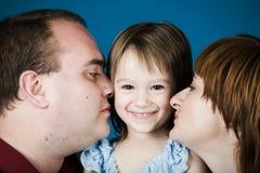Mutter, Vater und Tochter Lizenzfreies Stockbild