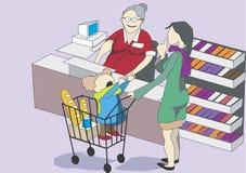 Mutterbaby Geschäft lizenzfreie stockfotografie