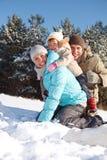 Muttergesellschaft mit Kleinkind Lizenzfreies Stockfoto