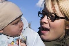 Muttergespräch Lizenzfreies Stockbild