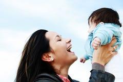 Mutterkind glücklich Stockfotografie