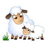 Mutterkinderschafikone, Karikaturart stock abbildung