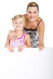 Muttermädchenanschlagtafel Lizenzfreie Stockfotos