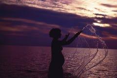 Mutterschaft und Sonnenuntergang Stockfoto