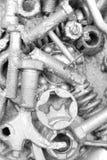 mutterskruv Arkivfoto