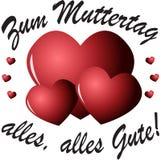 Muttertag (allemand) Images libres de droits