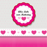 Muttertag Label Stock Photos