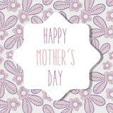 Muttertagessymbol mit Blättern und Blumen Stockfoto