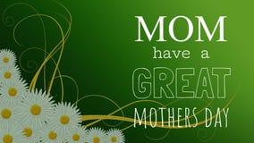Muttertagkarten-Video stock abbildung