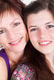 Muttertochternahaufnahme Lizenzfreies Stockbild