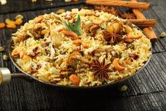 Mutton biriyani. Homemade delicious mutton biriyani -Arabic cuisine Stock Photo
