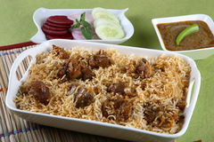 Mutton biryani. Hyderabadi south indian mutton biryani Stock Photos