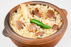 Mutton Biryani Closeup Royalty Free Stock Images