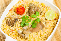 Mutton Biryani Closeup Stock Images