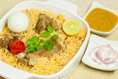 Mutton Biryani with Egg Stock Image