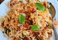 Mutton biryani. Keema Biryani Masala Rice cooked in muslim household and auspicious occasions in India and Pakistan stock photos