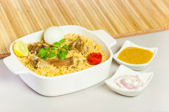 Mutton Biryani with Salad & Egg Royalty Free Stock Photography