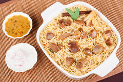 Mutton Biryani with Salad Stock Photography