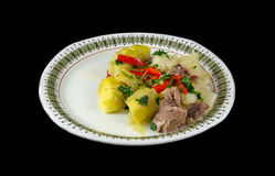 Mutton and cabbage Stock Images