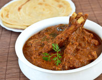 Mutton Curry. Indian cuisine, with parantha Royalty Free Stock Photos