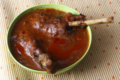 Mutton Curry from India. Top view of Mutton Curry, a punjabi dish made from lamb meat and spices Stock Image