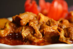 Mutton curry, indian cuisine. Close up of a bowl of indian mutton curry Royalty Free Stock Photography