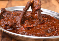 Mutton Curry. Indian cuisine, made from lamb meat Royalty Free Stock Photography