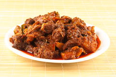 Mutton curry. Indian style  spicy mutton curry with herbs and spices Stock Photo