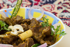Mutton fry. Mutton or goat dish, Eid special, Indian curry with leg bone piece. Delicious and popular non vegetarian food Royalty Free Stock Images