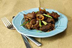 Mutton fry Royalty Free Stock Image