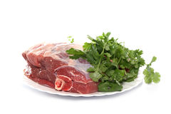 Mutton  gammon on a white background Royalty Free Stock Images