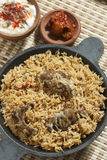 Mutton Gosht Biryani - A rice preparation with mutton and spices. Mutton Gosht Biryani - Lamb, hogget, and mutton are the meat of domestic sheep or Goat. Biryani Royalty Free Stock Photos
