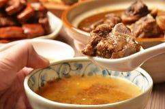 Mutton hot pot.   Stock Photo