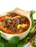 Mutton i söt och kryddig soya Arkivfoto