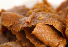 Mutton kebab. Slices of the mutton meat - kebab Royalty Free Stock Images