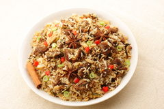 Mutton(lamb) biriyani Stock Photography