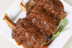 Mutton marinated in spicy yogurt from India Royalty Free Stock Image